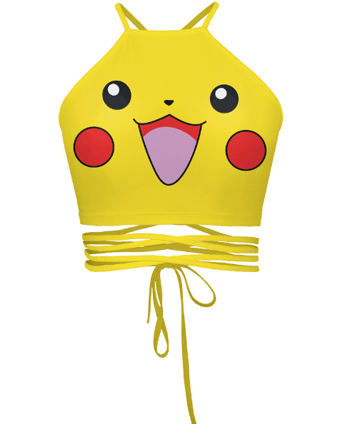 Romoti Happy Day Pikachu Yellow Crop Top