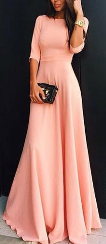 Romoti High Waist Scallop Hem Maxi Dress