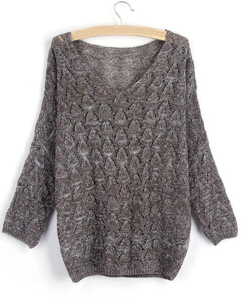 Romoti Hollow Oversized Sweater