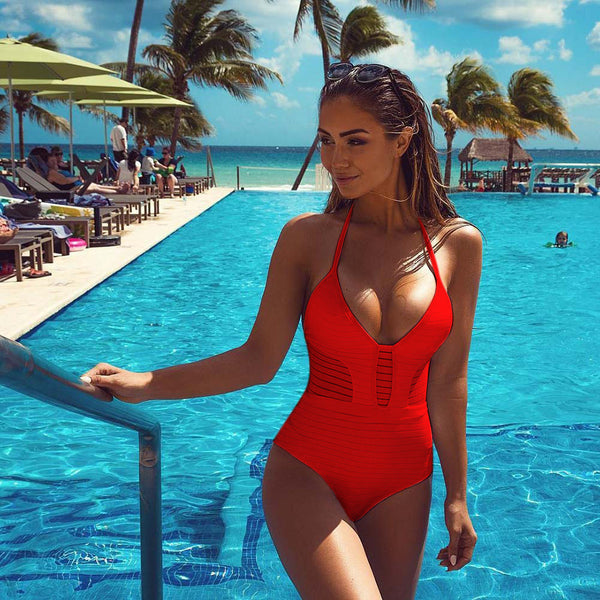 Romoti I Like See-through One-piece Swimsuit