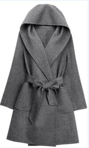 Romoti In My Heart Woolen Hooded Coat