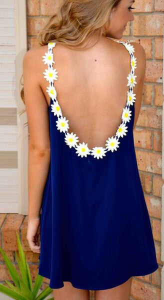 Romoti In The Flower Open Back Mini Dress
