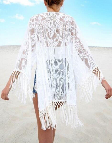 Romoti Just You Lace Tassel Cardigan