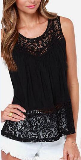 Romoti Lace Crochet Tank Top