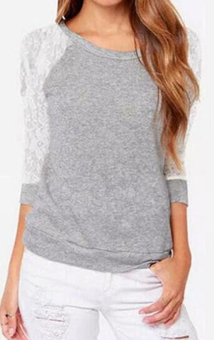 Romoti Lace Hollow Sweatshirt