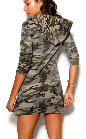 Romoti My Day Of Camouflage Hooded Dress