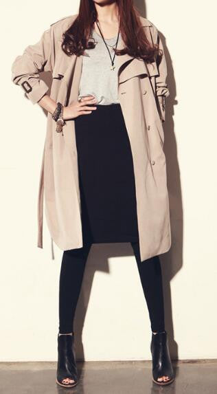 Romoti My Fall Day Lapel Long Coat