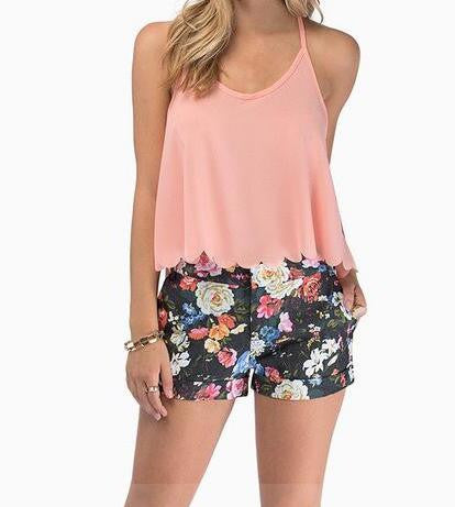 Romoti Scalloped Edge Crop Top