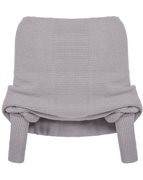 Romoti Sexy Lady Off The Shoulder Cross Sweater And  Grenadine Elastic Waist Skirt