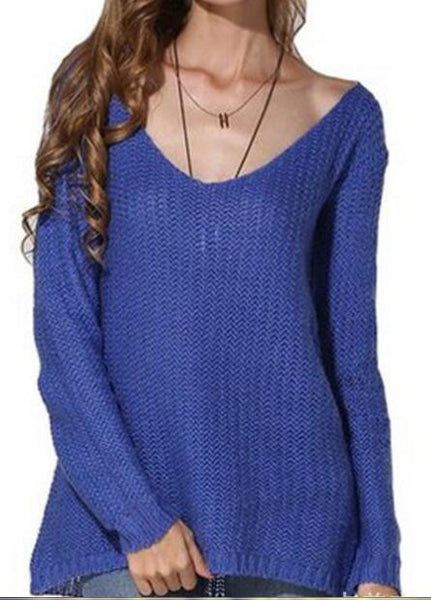 Romoti Stylish V Neck Sweater