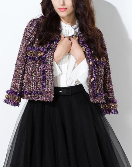 Romoti Surprise In Fall Tassel Tweed Jacket