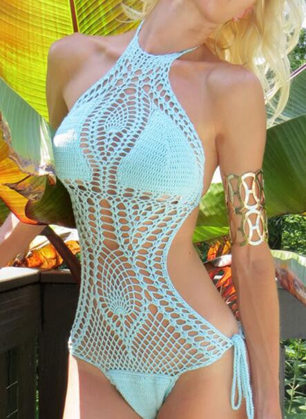 Romoti Sweet Summer Crochet One Piece Swimsuit