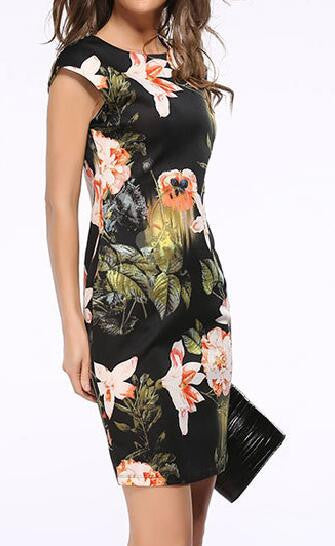 Romoti Take It From Me Floral Bodycon Dress