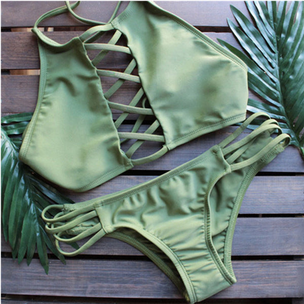 Romoti What You Love Lace Up Bikini Set