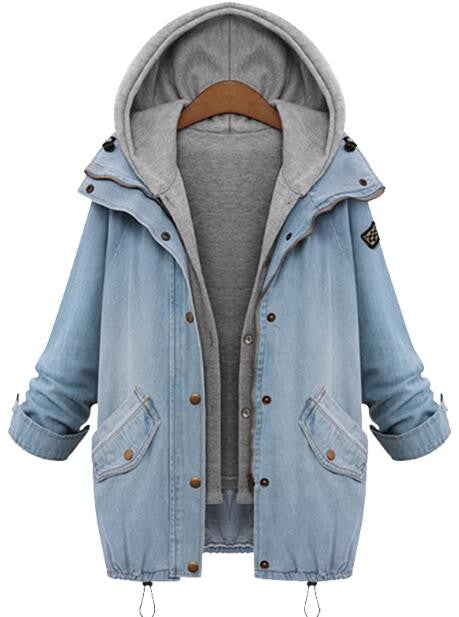 Romoti Winter Morning Denim Two-piece Coat