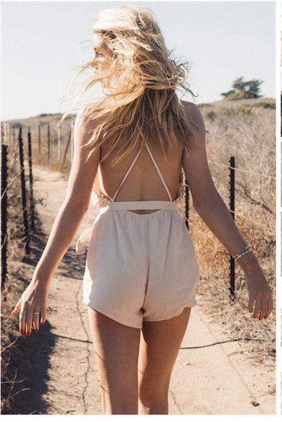 Romoti Worth It Deep V-Neck Romper