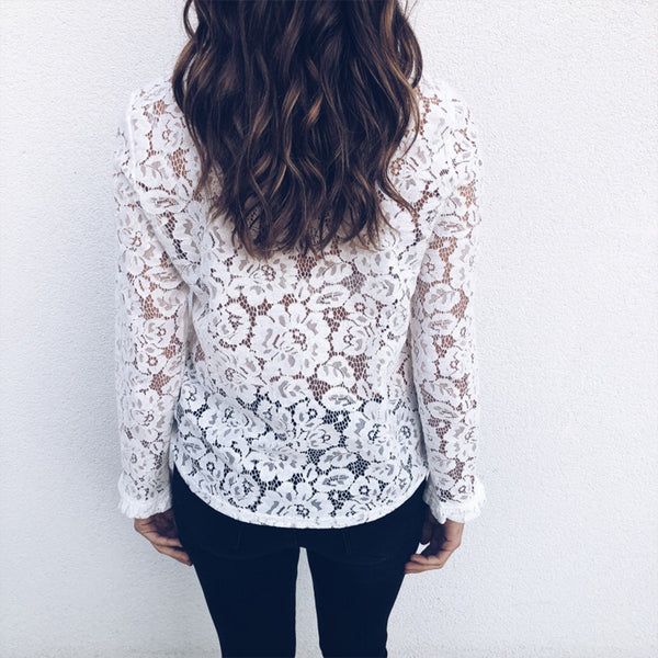 See-through Lace Top