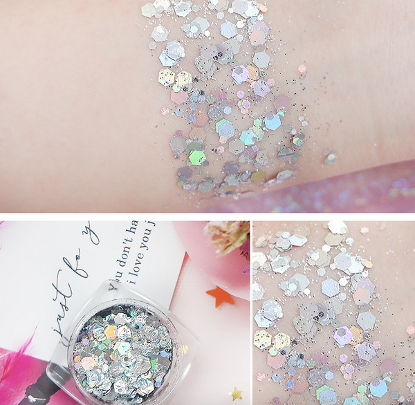 Sequins Eye Shadow Face Body Glitter Paste Gel Shiny