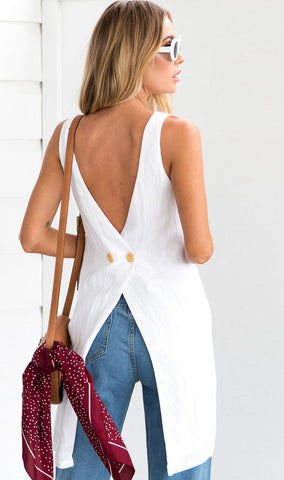 Sleeveless Irregular Top