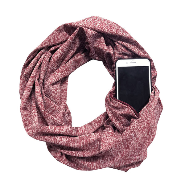 Storage Zipper Pocket Scarf