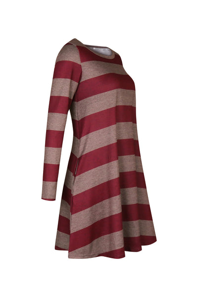 Stripe Casual Dress