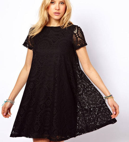 Romoti About You Lace Hollow Dress