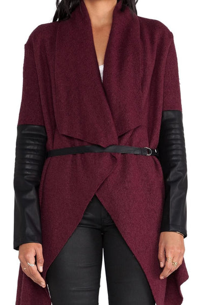 Romoti The Way Of Lapel Splicing Cape Coat