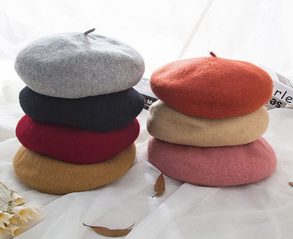 Wool Solid Color Hats