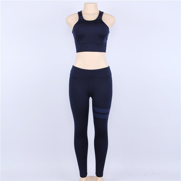 Yoga Trousers And Tops Two Pieces Set