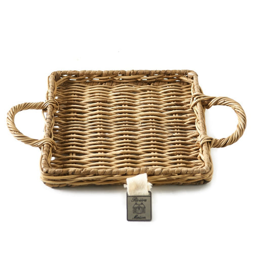 Rivera Maison Tablett Mini Rustic Rattan Mini Tray Square - LAZY SUNDAY LAZY SUNDAY