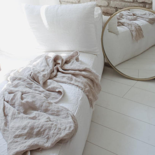 Maison de Vacances Decke Linen Gaze Washed taupe - LAZY SUNDAY LAZY SUNDAY