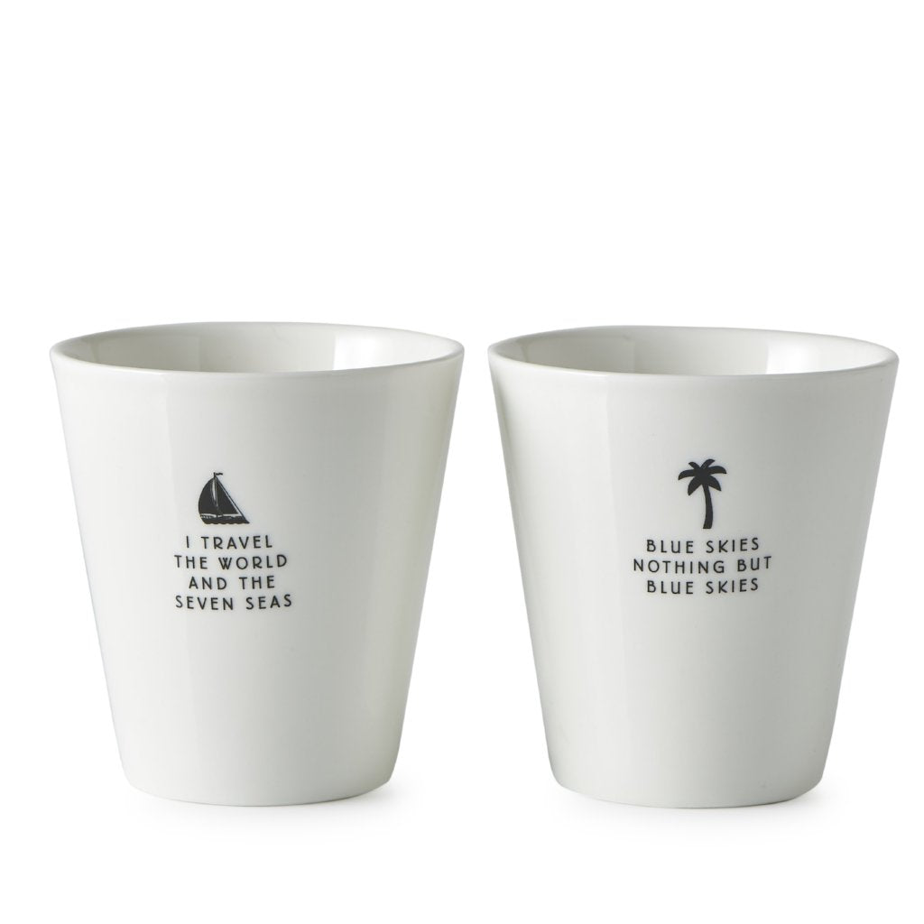 TRAVEL THE WORLD MUGS 2 PCS
