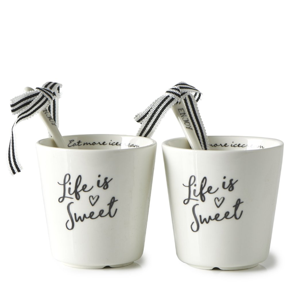 LIFE IS SWEET ICE CREAM CUP 2 PCS