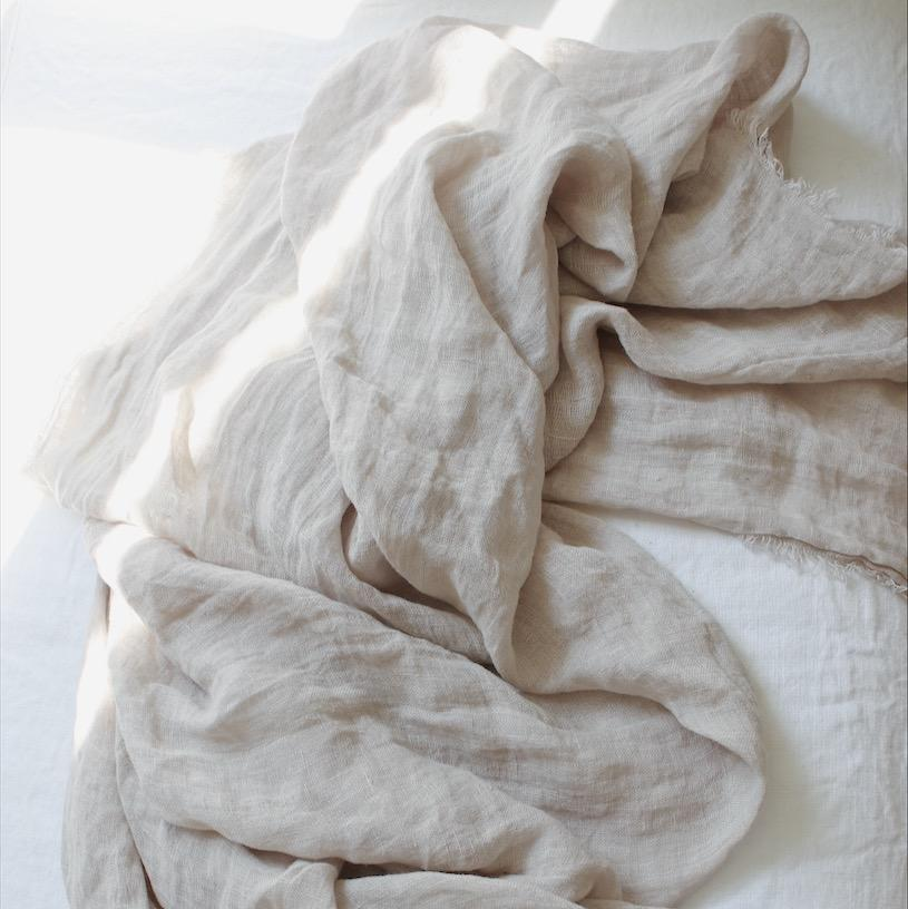 Maison de Vacances Decke Linen Gaze Washed dune - LAZY SUNDAY LAZY SUNDAY