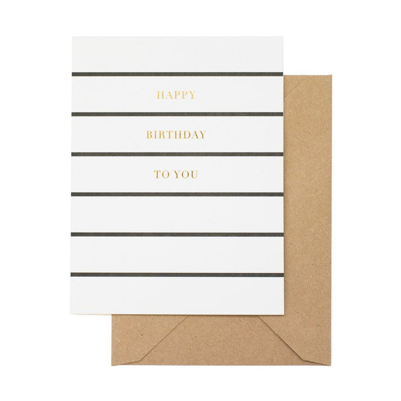 Postkarte Birthday Stripe