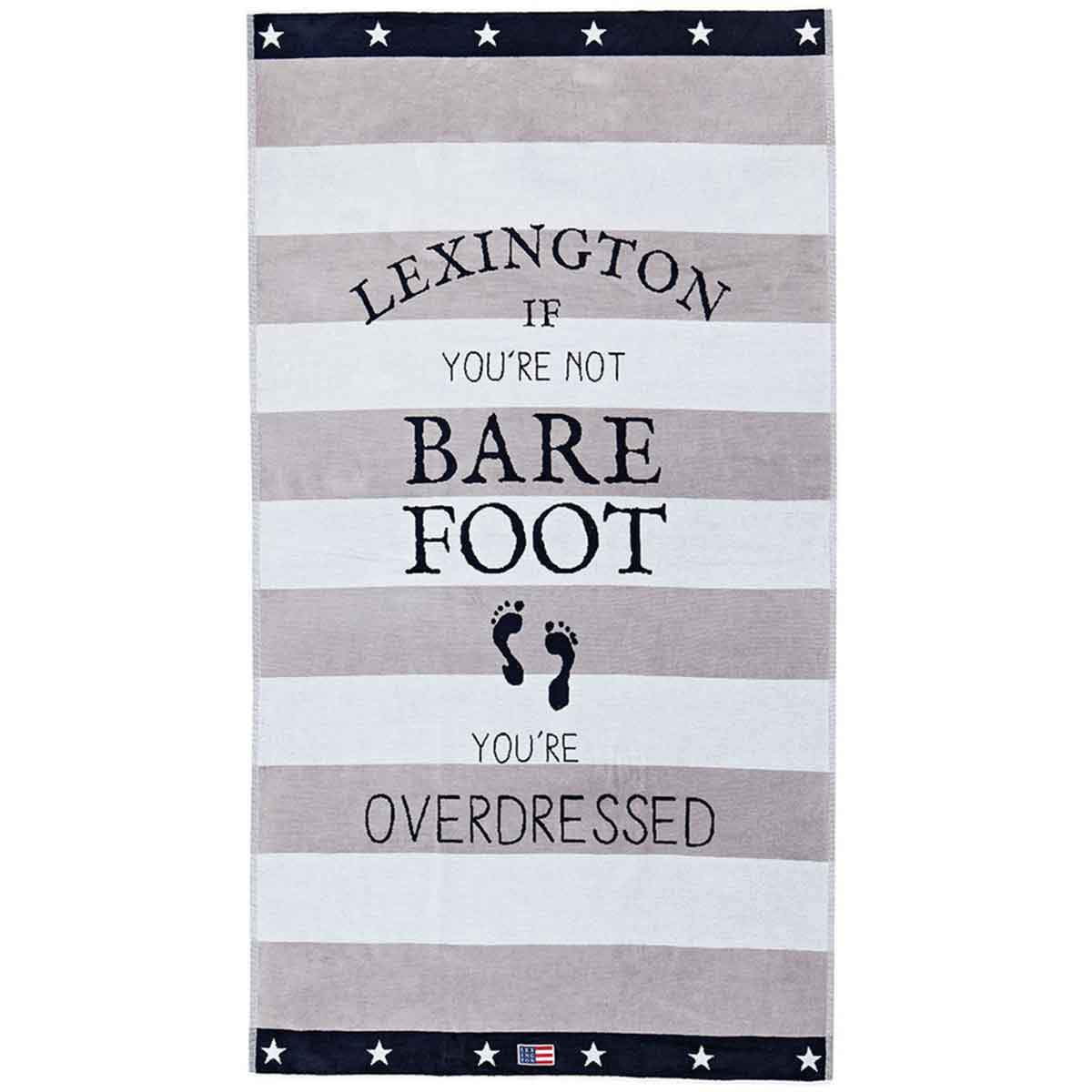 Lexington Company Graphic Velour Beach Towel - LAZY SUNDAY LAZY SUNDAY