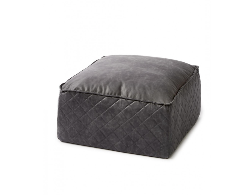 Riviera Maison Huntington Pouf Pellini anthrazit - LAZY SUNDAY LAZY SUNDAY