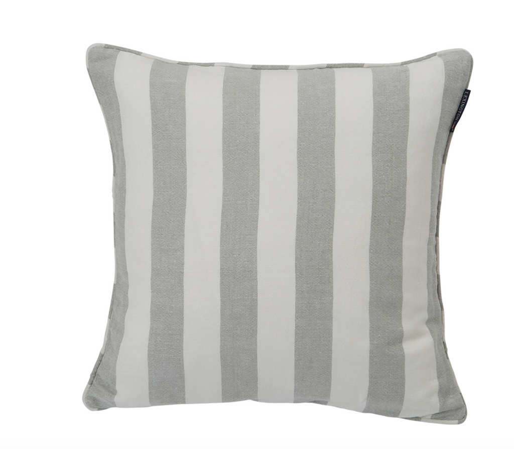 Linen Striped Sham grau/green