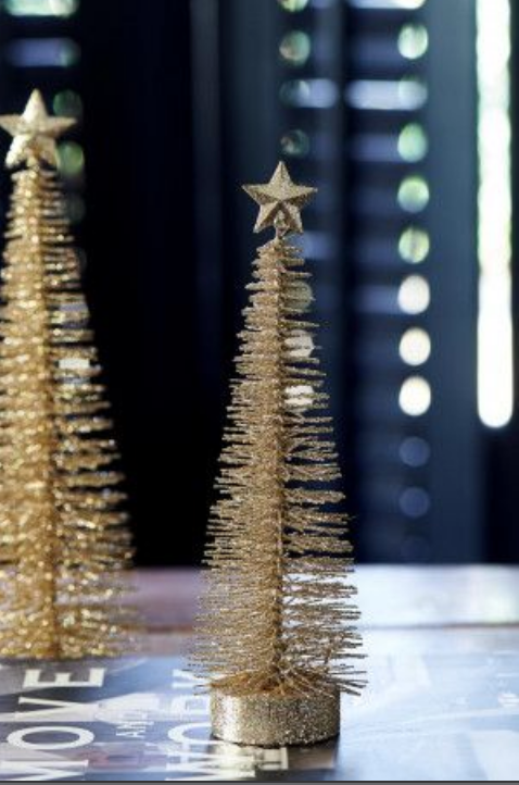 Christmas Star tree champagner