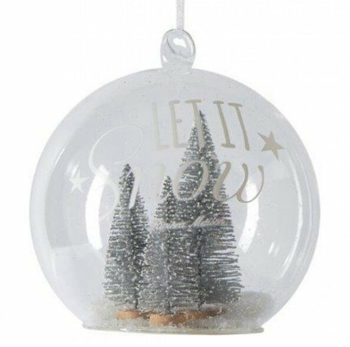 Let it snow silver forest ornament s