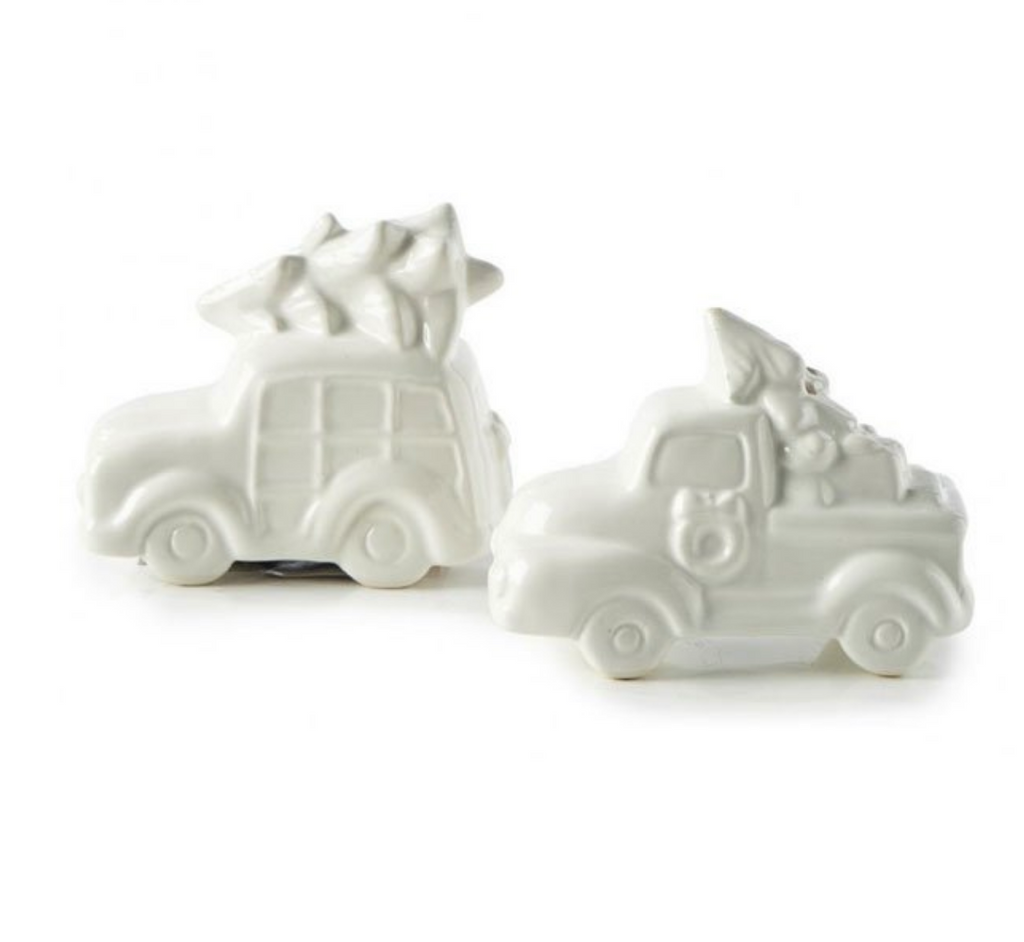 """Christmas Car"" salt & pepper"