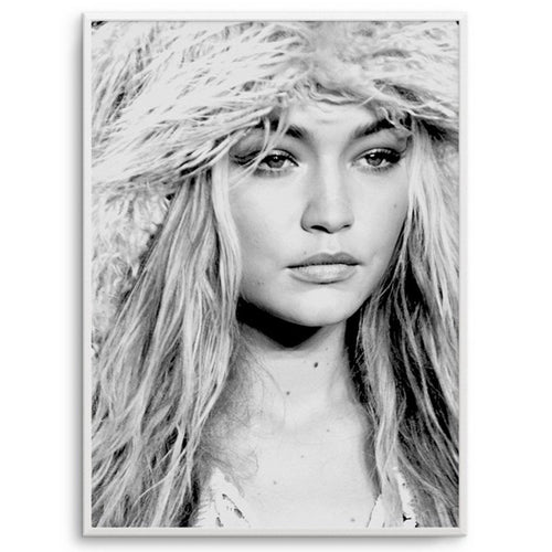 "Olive & Oriel Kunstdruck ""Gigi Hadid"" 60x90 Limitierte Edition - LAZY SUNDAY LAZY SUNDAY"
