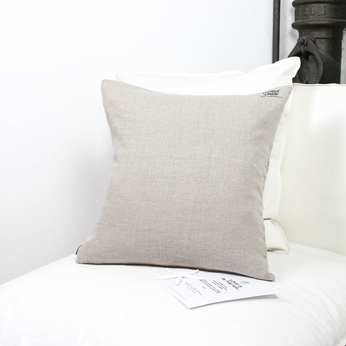 Lovely Linen Dekokissen Leinen Natural Beige - LAZY SUNDAY LAZY SUNDAY