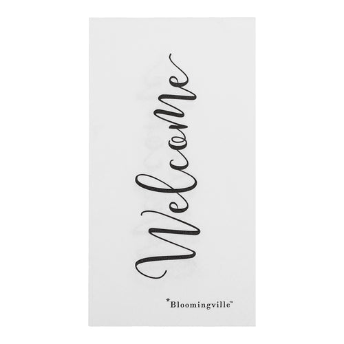 Papierserviette Welcome