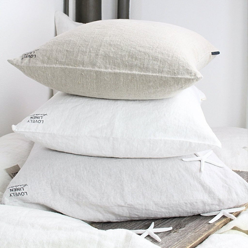 Lovely Linen Dekokissen Leinen Off-White - LAZY SUNDAY LAZY SUNDAY
