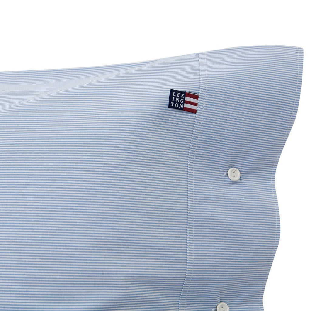 Lexington Company Kopfkissen mini stripe poplin hellblau - LAZY SUNDAY LAZY SUNDAY