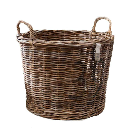Rustic Rattan Storage Basket Tray
