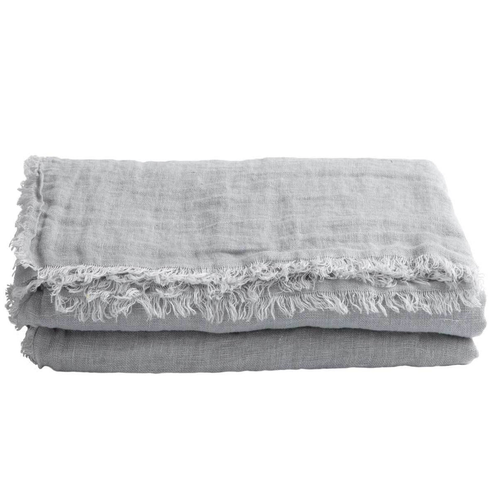 Maison de Vacances Decke Linen Gaze Washed perle - LAZY SUNDAY LAZY SUNDAY