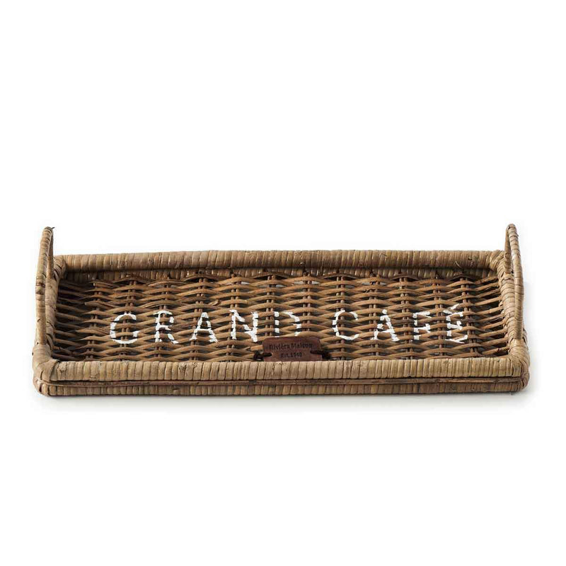 Rustic Rattan Tray Morning Coffee