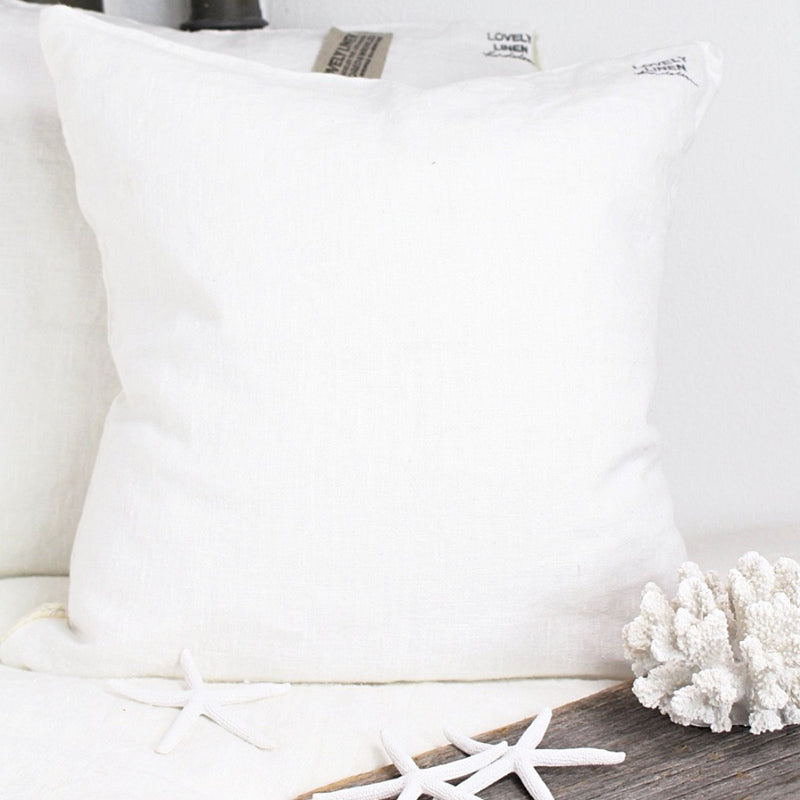 Lovely Linen Dekokissen Leinen Off-White 60x60cm - LAZY SUNDAY LAZY SUNDAY
